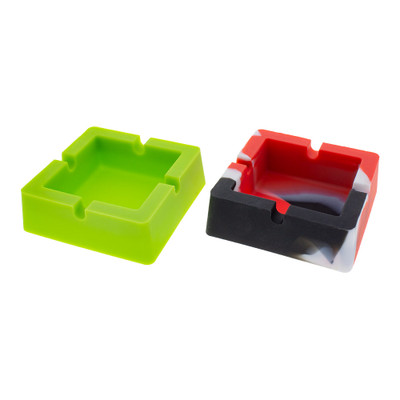 buy Silicone Square Ashtray assorted colors