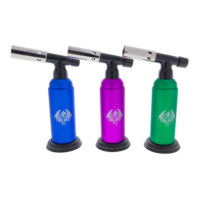 Buy Monster 2 Double Flame Butane Torch in blue, purple, green