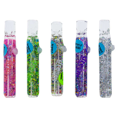 Buy Freezable Glass Galaxy Glitter Chillum in assorted colors