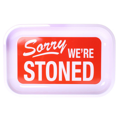 Sorry we're stoned metal rolling tray.