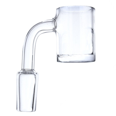 14mm male glass on glass quartz flat top 90 degree banger for huge fat dabs.