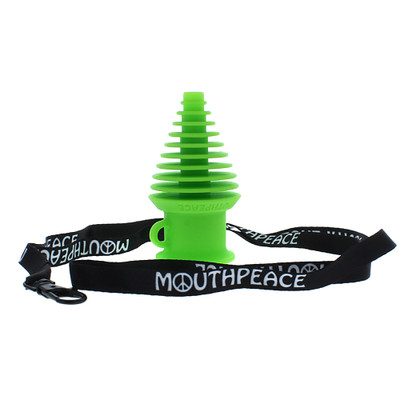 Eyce silicone sanitary mouth piece with lanyard for when you want to share glass, not germs.