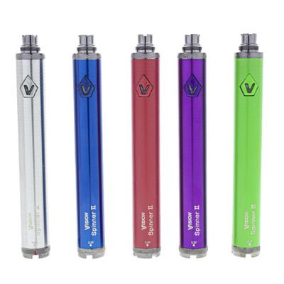 Vision spinner 2 1600mah 510 thread battery with variable voltage twist setting for pre filled cartridges.