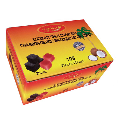 Starlight 25mm Coconut Shell Charcoal Cubes, Box of 105
