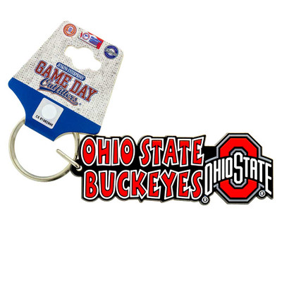 Show off your team spirit with this festive keychain featuring The Ohio State Buckeyes!