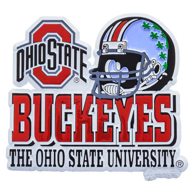 O-H! This awesome 3D magnet features the Ohio State logo and a Scarlet & Gray helmet decorated with Buckeyes.