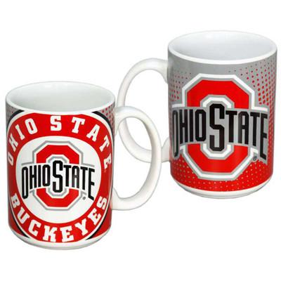 Ohio State Dot Pattern Ceramic Mug
