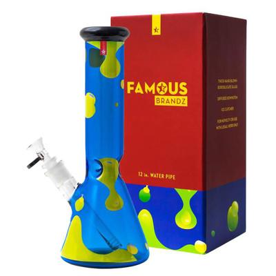 """Famous Glass Privilege 12"""" Beaker Bong"""