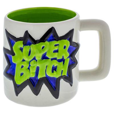 """Large """"Super Bitch"""" Mug Novelty Coffee Mug"""