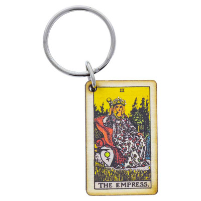 The Empress Tarot Card keychain from above.