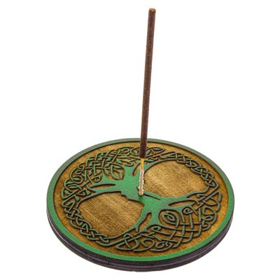 Tree of Life stick incense holder with a Shortie incense stick.