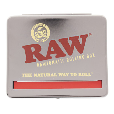 Raw auto roll tin box in silver for 110mm papers.