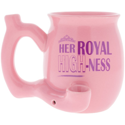 Her Royal Highness Pipe Mug viewed from the front.