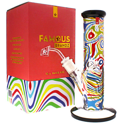 Famous Glass amnesia boxed bong for sale, perfect for gifts.