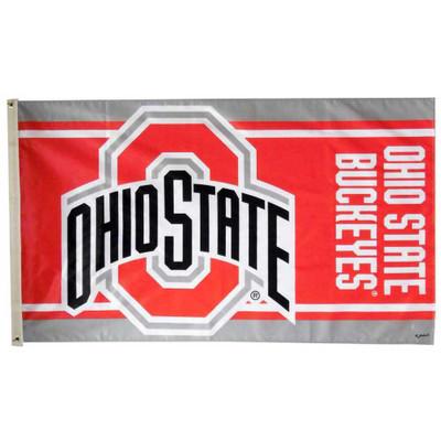 Ohio State Buckeyes 3' x 5' Striped Flag