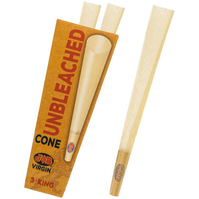 JOB Virgin Unbleached King Size Pre-Rolled Cones