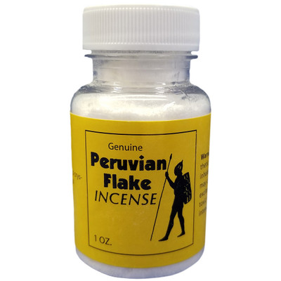 Front label of a 1 oz. bottle of Peruvian Flake Room Odorizer for sale.