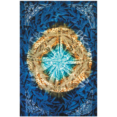 Front view of the artwork on this Dragonfly Full Size Tapestry.
