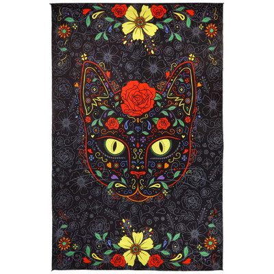 Front view of this Sugar Kitty 3D Tapestry.