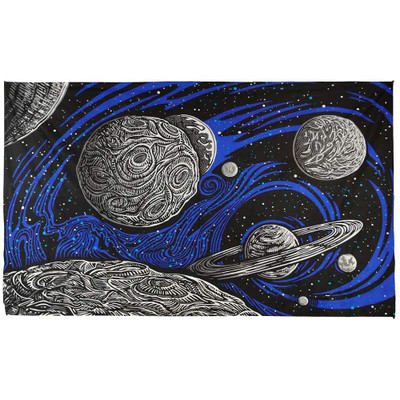 """Complete view of the front of this tapestry, spread to its full 60"""" x 90""""."""