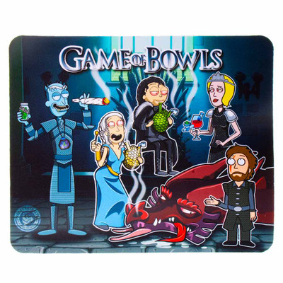 Protect your glass piece with this ultra colorful Rick and Morty Dab pad featureing the gang as the Game of Thrones charatures.