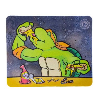 Protect your glass piece with this teenage mutant ninja turtle dab pad.