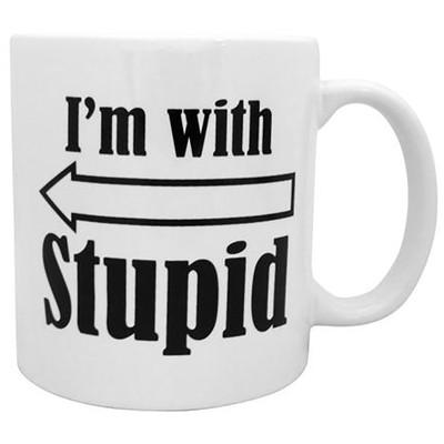Giant I'm With Stupid Mug