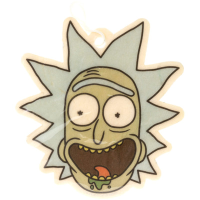Front view of the Rick Head Air Freshener. The back side looks like the back of his head!