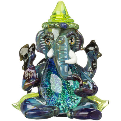 Ganesha Glass Pendant with Dichroic Accent