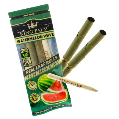 Pre rolled organic palm leaf flavored with watermelon and natural terpenes.
