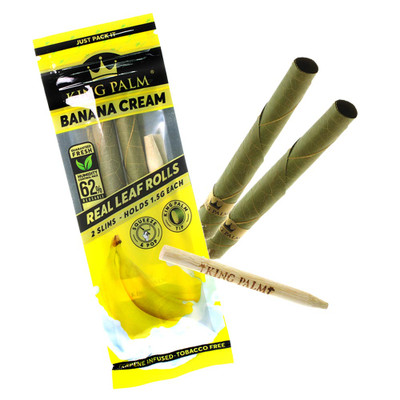 King palm natural tobacco free leaf pre rolled.