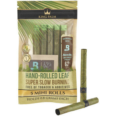 King Palm Organic Pre-Rolled Mini Cones, 5 Pack