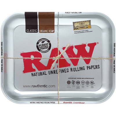 Roll up with this metallic metal rolling tray.