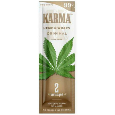 Nicotine free blunt wraps that are unflavored.