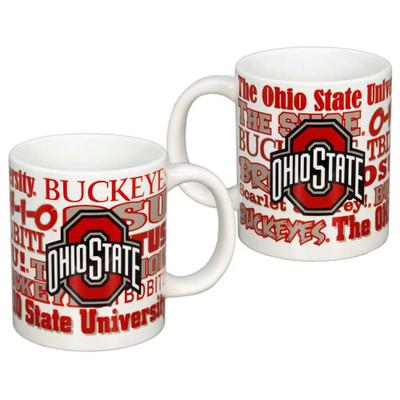 Ohio State Buckeyes Giant 20 oz Wordmark Mug