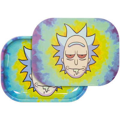 Tie-Dye High Rick Sanchez Rolling Tray with Lid, Small