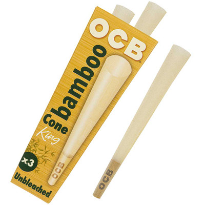 OCB Bamboo King Size Pre-Rolled Cones, 3-Pack