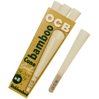 OCB Bamboo 78mm Pre-Rolled Cones, 8-Pack