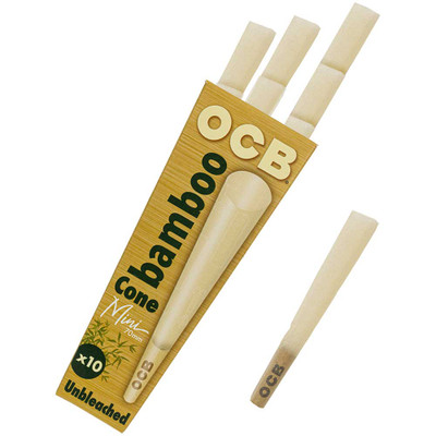OCB Bamboo 70mm Pre-Rolled Cones, 10-Pack