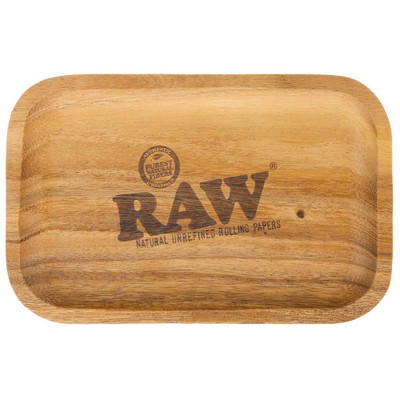 RAW Natural Acacia Wood Rolling Tray