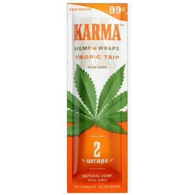 A single pack of Tropic Trip (Fruit Punch) flavored, nicotine- and tobacco-free blunt wraps.