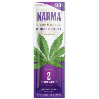 A single pack of Purple Chill (Grape) flavored, nicotine- and tobacco-free blunt wraps.