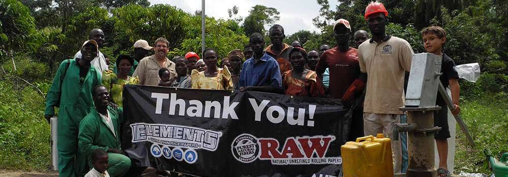 Raw Foundation dedicating a new well in Ghana.