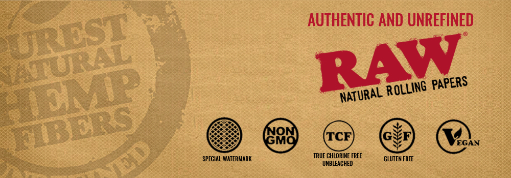 Raw Papers brand banner.