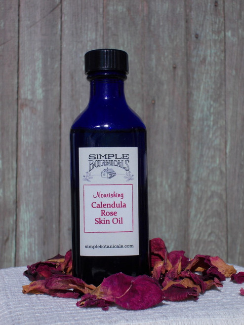 One bottle of Calendula Rose Skin Oil