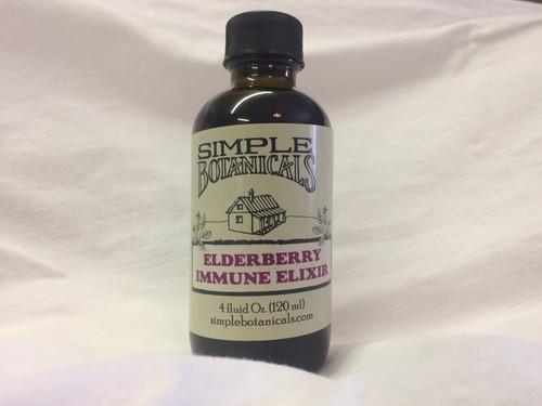 One bottle of Simple Botanicals Elderberry Immune Elixir