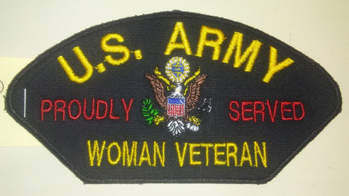 "5.5"" x 2.8"" US Army Woman Veteran Patch"