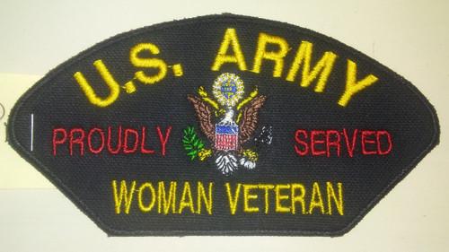 """5.5"""" x 2.8"""" US Army Woman Veteran Patch"""