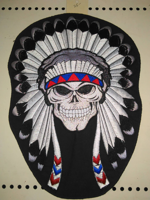 Indian chief skull patch