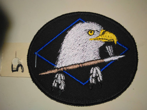Eagle Head with Peace Pipe Patch